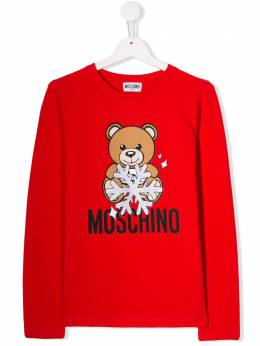 Moschino Kids топ с принтом Teddy Bear HIM02ALBA11