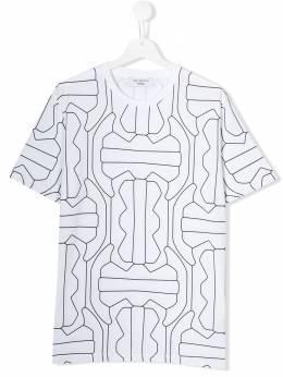 Neil Barrett Kids футболка с графичным принтом KJT081020574
