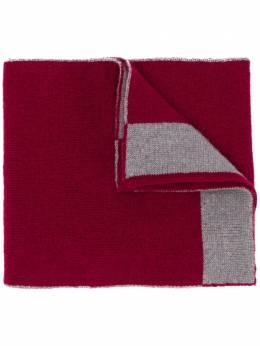 Dell'oglio кашемировый шарф с контрастной отделкой 100CASHMERE29