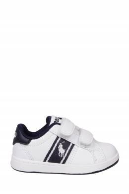 Белые кроссовки на липучках Ralph Lauren Kids 1252164907