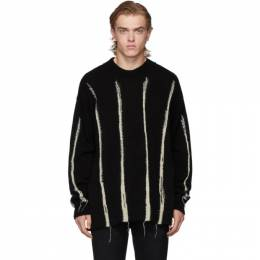 Ann Demeulemeester Black and White Kuprin Stripes Sweater 192378M20100103GB