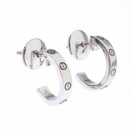 Cartier Love 18k White Gold Huggie Earrings 244031