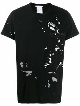 Helmut Lang футболка с эффектом разбрызганной краски J09DM526