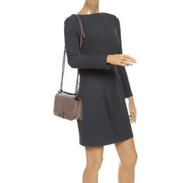 Chanel Brown Chevron Leather Medium Boy Flap Bag 242366