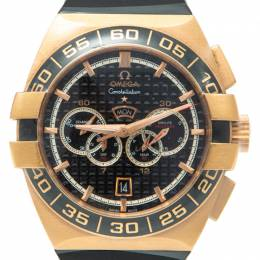 Omega Black 18K Rose Gold Constellation Double Eagle Men'S Watch 44M 'Discontinued'