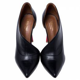 Malone Souliers Black Leather Pumps Size 37.5 244162