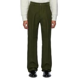 Ami Alexandre Mattiussi Green Wide Fit Trousers 192482M19103101GB