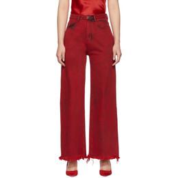 Marques Almeida Red Boyfriend Jeans 201714F06902202GB