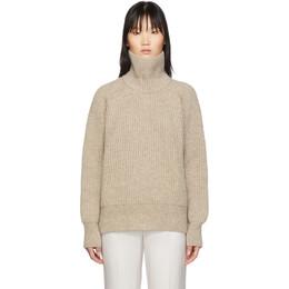Ami Alexandre Mattiussi Beige Bulky Wool Sweater 192482F09900504GB