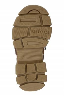 Коричневые кроссовки Flashtrek Gucci Kids 1256165607