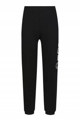 Черные спортивные брюки с белыми логотипами Gucci Kids 1256165619