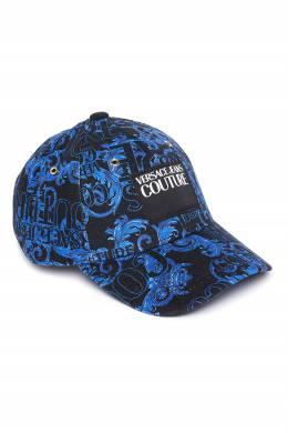 Бейсболка с синим узором Versace Jeans 3025165832