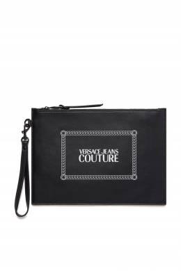 Небольшой клатч с контрастным принтом Versace Jeans 3025165839
