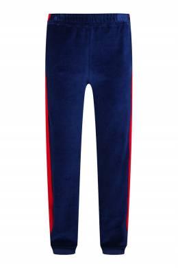Синие брюки с красными лампасами Gucci Kids 1256165622