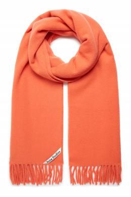 Оранжевый шарф с логотипом Acne Studios 876165632