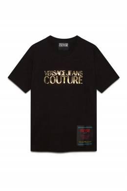 Черная футболка с нашивкой Versace Jeans 3025165798