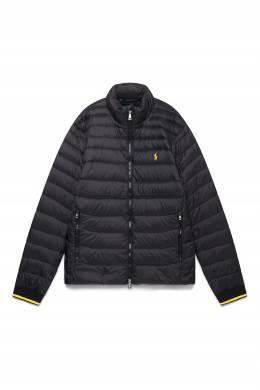 Черная куртка с яркой окантовкой Polo Ralph Lauren 3023165644