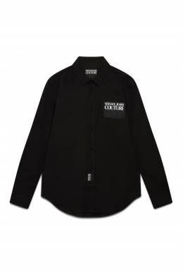 Черная рубашка на пуговицах Versace Jeans 3025165787
