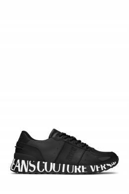Черные кроссовки с контрастным логотипом Versace Jeans 3025165845