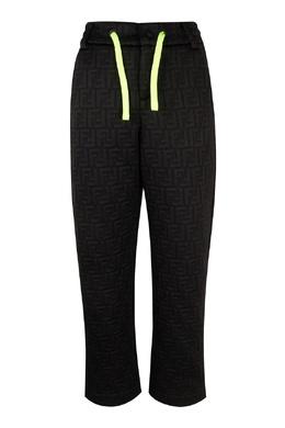 Спортивные брюки с контрастной кулиской Fendi Kids 690165620