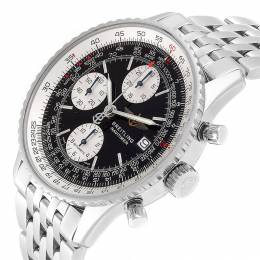 Breitling Black Stainless Steel Navitimer II A13322 Men's Wristwatch 42 MM 245327