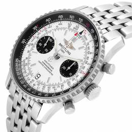 Breitling White/Black Stainless Steel Navitimer Exemplaires A23330 Men's Wristwatch 41.5 MM 245325