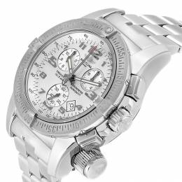 Breitling Silver Stainless Steel Professional Chronograph A73322 Men's Wristwatch 45 MM 245330
