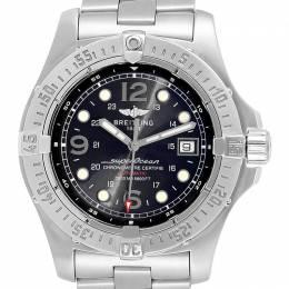 Breitling Black Stainless Steel Superocean Steelfish A17390 Men's Wristwatch 44 MM 245334