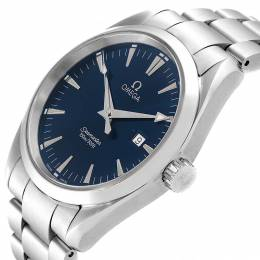 Omega Blue Stainless Steel Seamaster Aqua Terra 231.10.39.21.03.002 Men's Wristwatch 39 MM 245483