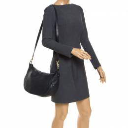 Mulberry Black Leather Flap Shoulder Bag 241643