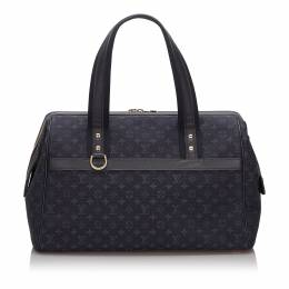 Louis Vuitton Navy Blue/Black Monogram Canvas Mini Lin Josephine GM Bag 237035