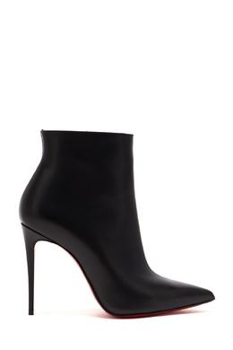 Черные кожаные ботильоны So Kate Bottie 100 Christian Louboutin 10683697