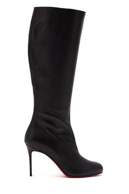Черные кожаные сапоги Fifi Botta 85 Christian Louboutin 106112342