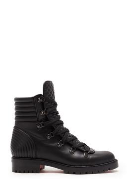 Черные кожаные ботинки Mad Boot Christian Louboutin 106129202