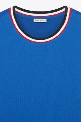 Синяя футболка Moncler 34166153
