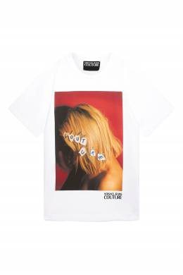 Белая футболка с принтом Versace Jeans 3025166122