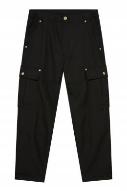 Черные брюки из твила Versace Jeans 3025166125