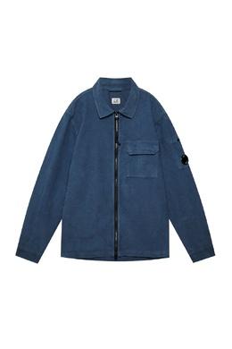 Синяя рубашка на молнии C.P. Company 1929166233