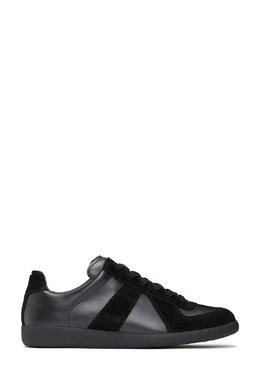 Черные кроссовки с фактурными вставками Maison Margiela 1350165505