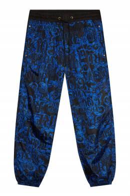 Брюки с синими принтами Versace Jeans 3025166271