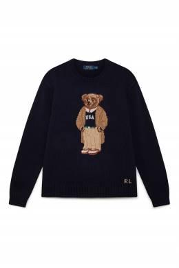 Темно-синий свитер с узором-медведем Polo Ralph Lauren 3023166265