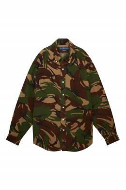Рубашка с камуфляжным принтом Polo Ralph Lauren 3023166264