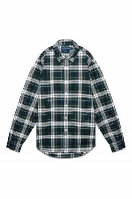 Зеленая клетчатая рубашка Polo Ralph Lauren 3023166259