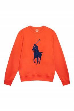 Оранжевый свитшот с аппликацией Polo Ralph Lauren 3023166249