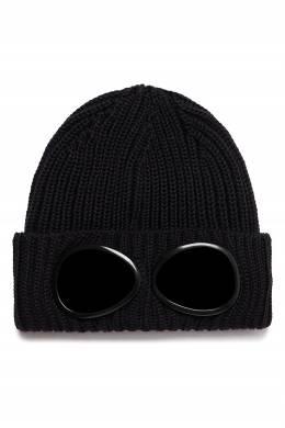 Черная вязаная шапка с очками C.P. Company 1929166241