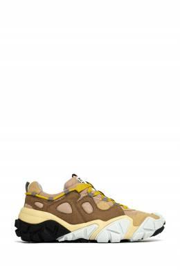 Коричневые комбинированные кроссовки Acne Studios 876166244