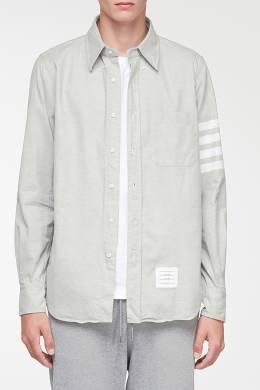 Серая рубашка с контрастной отделкой Thom Browne 2875165529