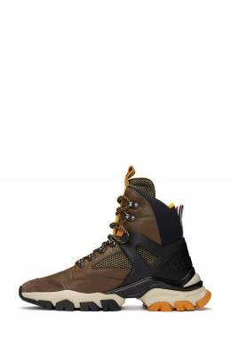 Высокие коричневые ботинки Moncler 34166175