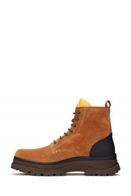 Коричневые замшевые ботинки Moncler 34166176
