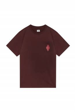 Бордовая футболка с карманом C.P. Company 1929166136